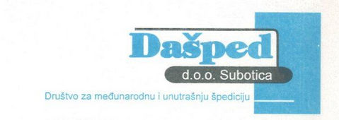 ''Dašped'' d.o.o. Subotica - Sponsor of Scout group ''Spartak'' from Subotica