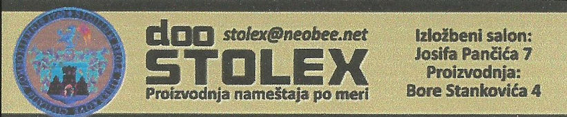 ''STOLEX''  d.o.o. - Sombor, Sponsor of Scout group ''Spartak'' from Subotica