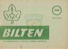 BILTEN za rukovodioce u Savezu izviđača Hrvatske - broj 226 (siječanj [januar] 1975.)