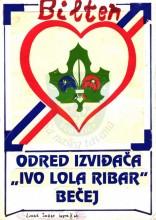 Naslovna strana Biltena Odreda izviđača ''Ivo Lola Ribar'' iz Bečeja