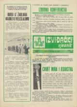 Омот за извиђачки часопис - Извиђачки вјесник - бр.256, 19.март 1986.