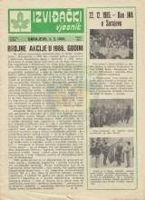 Naslovnica časopisa Izviđački vjesnik - broj 253, za 5.februar 1986.