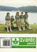 Насловна страна извиђачке публикације некадашњег Савеза извиђача Босне и Херцеговине 'Извиђачки вјесник' - број 283 за јун 1990. годинe.