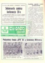 Naslovna strana 'Izviđačkog vjesnika' - izviđačkog časopisa Saveza izviđača Bosne i Hercegovine (SI BiH) - broj 276 izdat 5.jula 1988. godine.