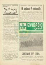 Naslovna strana 'Izviđačkog vjesnika' - izviđačkog časopisa Saveza izviđača Bosne i Hercegovine (SI BiH) - broj 265 izdat 3.februara 1988. godine.