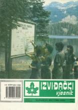 Naslovna strana izviđačke publikacije nekadašnjeg Saveza izviđača Bosne i Hercegovine 'Izviđački vjesnik' - broj 282 za maj 1990. godine.