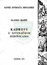 Naslovna strana dela Uloga i zadaci kadrova u izviđačkim jedinicama - Slavka Bjažića, za izdanje iz 1973.godine