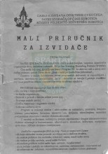Omot skripte Mali priručnik za izviđače u izdanju Saveza izviđača opštine Subotica za subotičke izviđače