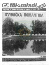 Naslovnica za izviđačke novine ''MI MLADI na Smotri'' - Dnevnik Pete smotre izviđača Hrvatske - br. 5, za 5. VII 1985. godine