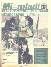 """Naslovna strana izviđačkih novina """"MI MLADI"""", broj 38 za septembar 1985. godine"""