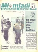 Naslovna strana izviđačkih novina ''Mi mladi'', broj 21 za februar 1984. godine