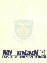 Omot albuma ''MI MLADI'' - izviđačke novine, brojevi 49-59 (1986 rujan-1987 juli)