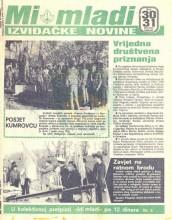 ''MI MLADI'' - izviđačke novine, dvobroj 30 i 31 za decembar 1984. i januar 1985.