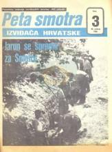 Naslovna strana posebnog izdanja izviđačkih novina ''MI MLADI'' od 30.svibnja 1985. godine - Peta smotra izviđača Hrvatske