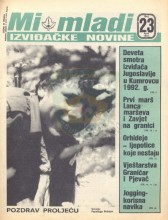Naslovna strana izviđačkih novina Mi mladi, broj 23 za april 1984. godine