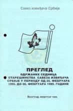 Pregled održanih sednica Starešinstva Saveza izviđača Srbije u periodu od 25.februara 1995. do 6.februara 1999. godine