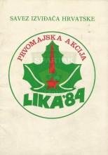 Prvomajska akcija izviđača Hrvatske ''Lika '84''