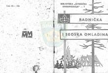 Naslovnica za Teze za Rad s radničkom omladinom i rad izviđača na selu iz 1961.godine