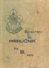 Омот за приручник ''СКАУТСКИ ПРИРУЧНИК за III. ред'' из 1939.године