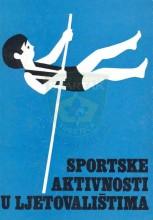 Насловна страна књиге Спортске активности у летовалиштима - Вјекослава Јураса из 1979. године