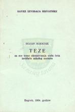 Омот за књигу ТЕЗЕ за све теме образовања вођа чета извиђача млађег узраста - аутора Бојан Бошњак, издато у Загребу 1984.године