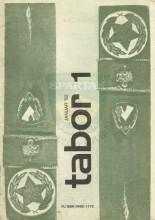 ''Tabor'' glasilo Zveze Tabornikov Slovenije - 1.broj za 1982. godinu (januar)