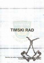 Naslovna stranica skripte sa seminara ''Timski Rad'' - SIV - Kanjiža 5-14.avg.2002.