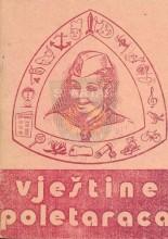 Омот за књигу ВЈЕШТИНЕ ПОЛЕТАРАЦА - Приручник за руководиоце јединица полетараца, коју је издао Савез извиђача Хрватске 1976. године